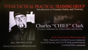 Charles Chief Clark Business Card
